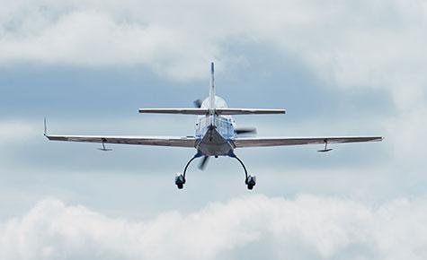 Extra 200 rear in flight
