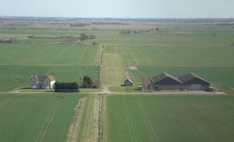 Farm strip final approach