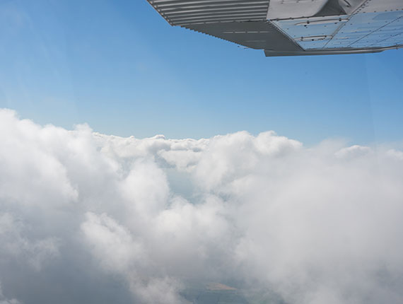 Flying over cloud