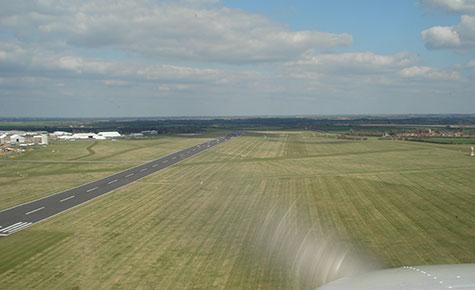 Grass strip final approach
