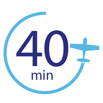 40 Minute Flight Logo