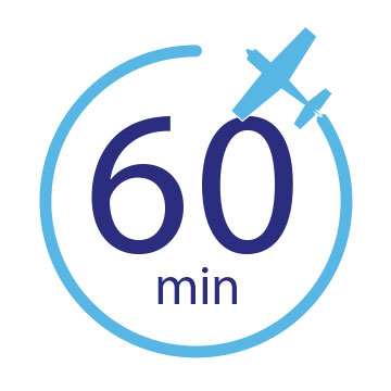 60 Minute Flight Logo