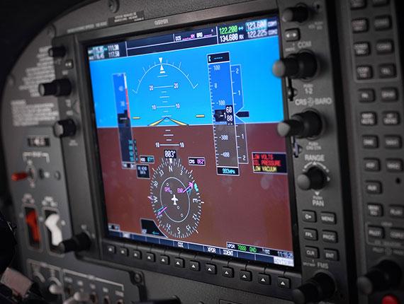 Cessna 172 G1000 instruments