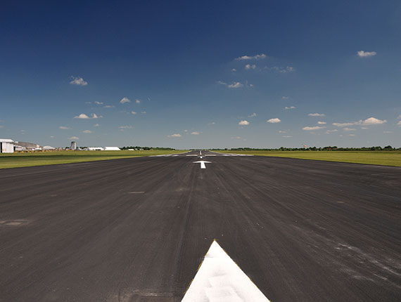 Down the runway